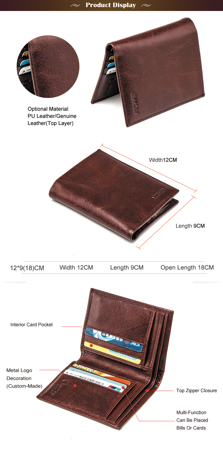 2017 Hot Selling Custom Print cheap mens hand made genuine leather wallets from india