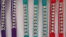 width 1.0cm 11pcs fake diamond dog collar with one buckle