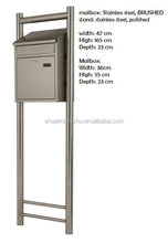 stainless steel combination mailbox