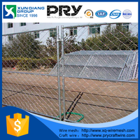 galvanized steel fabric wire mesh(50*50)stand alone construction site temporary chain link fence panels & barricades