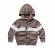 2016 fashion design buttoned down cardigan baby hooded sweater