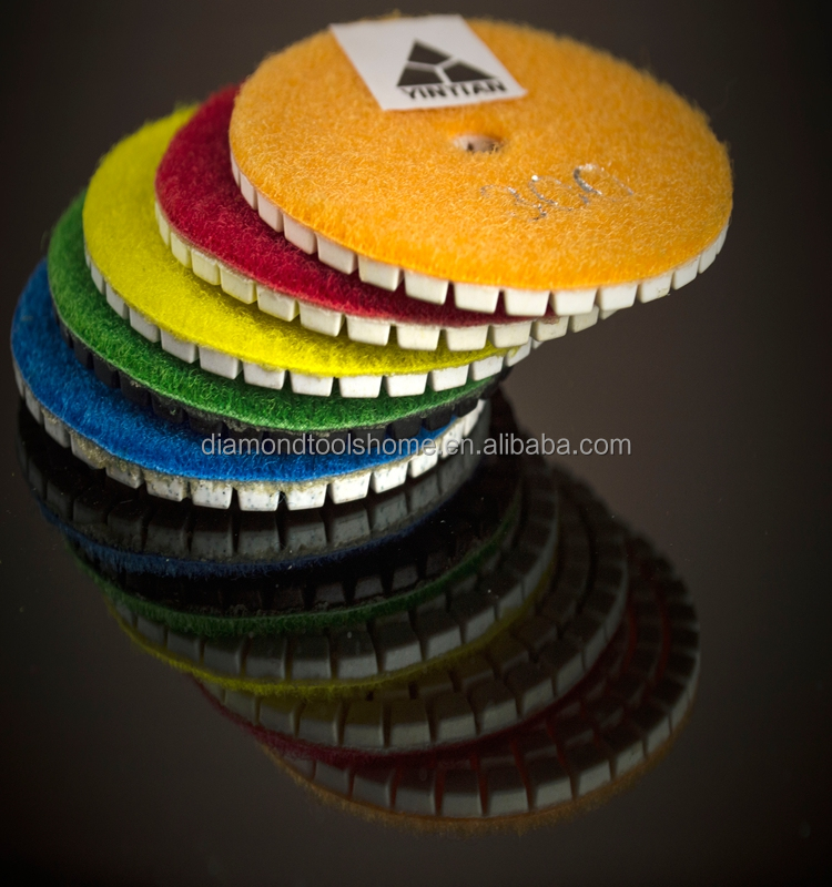Durble and Smooth cutting efficience dry/wet 4inch diamond japan polishing pad