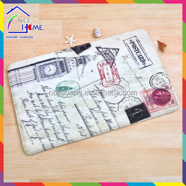 Post card best quality professional christmas bell polyester entrance mat