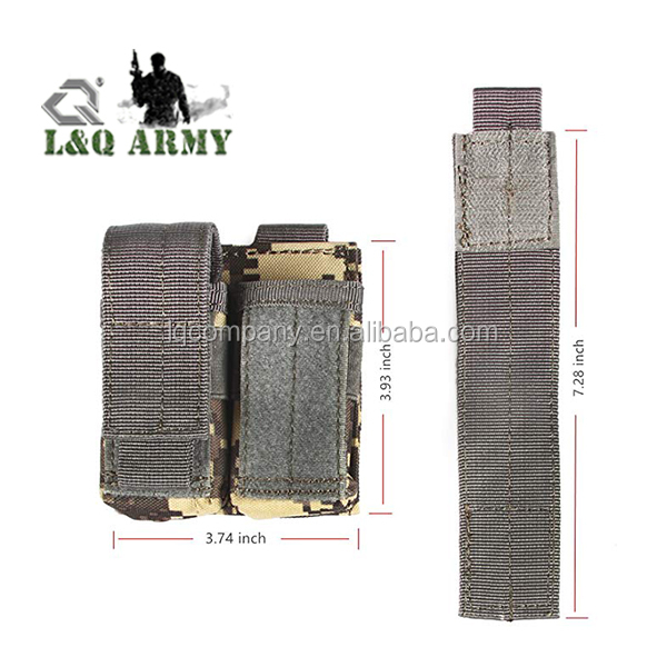 Tactical Single double Pistol and Rifle Mag Pouch Kangaroo Magazine Pouch holds M4/M16 Mag
