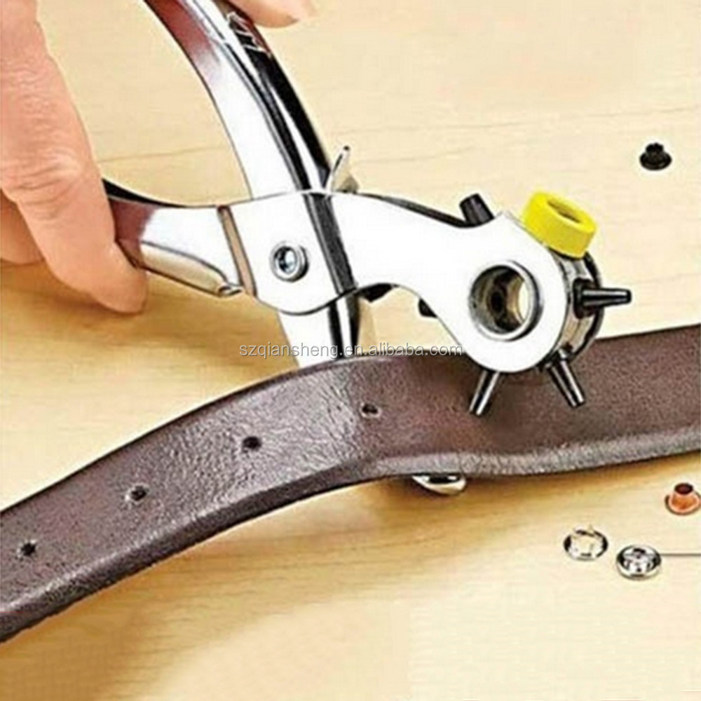 Best selling stainless steel belt hole punch Leather Punchers Tools Holes Punch