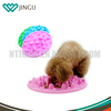 Various color two size plastic dog bowls silicone slow feed dog bowl