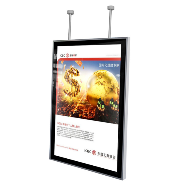 Double side <strong>led</strong> frame sign custom hanging <strong>led</strong> menu board poster <strong>light</strong> box