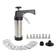 Biscuits Maker Cookie Press Gun Stainless Steel Homemade Biscuits Press Kit