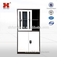 upper sliding glass door metal file cabinet/steel filing cabinet