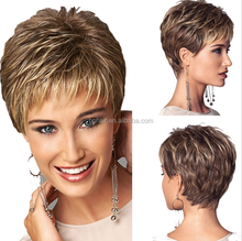 Fast selling products in south africa synthetic short wig/ brazilian hair wholesale in brazil rainbow hair extensions