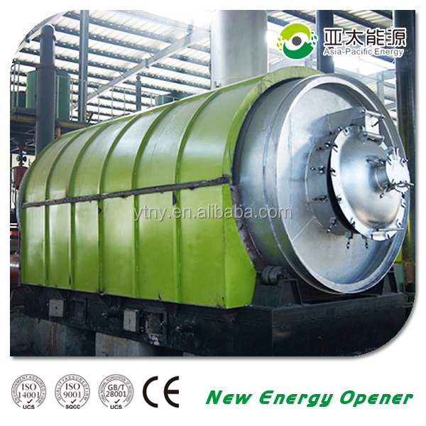 Waste treatment 8-10 tons pyrolysis plant scrap used tires recycling plant for sale
