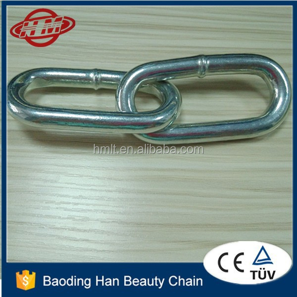 welded industrial decorative small link chain