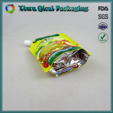 Alibaba China manufacturer laminated stand up plastic packaging spout pouch bag