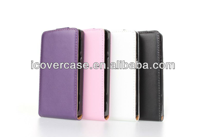 For Sony Xperia E Dual C1605 flip genuine leather Case