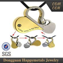 Excellent Stylish Stainless Steel With Logo 1 Gram Gold Pendant