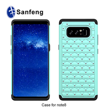 For Sam Galaxy Note 8 Smart Phone Case,Sparkle Diamond Back Cover For Sam Galaxy Note 8