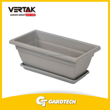 Creditable partner outdoor garden economic rectangle garden plastic flower pot trays