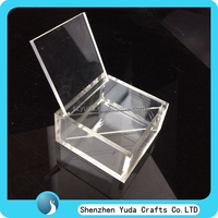 polishing surface acrylic box dispense with lid for sweet