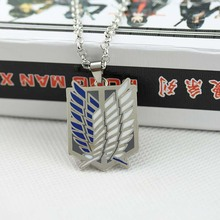 Anime Attack On Titan Necklace Shingeki No Kyojin horse Cosplay Statement Necklaces KN-60