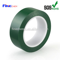 Heat Resistant Polyester Green Silicone Adhesive Tape on sales