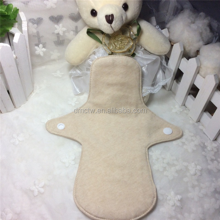 100%Organic Cotton Breathable Thick Sanitary Pad with Wings Reusable and Washable Maternity Panty liners Cloth Menstrual Pads