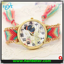 2015 new product ladies bracelet quartz select wrist watch of all type wooven band