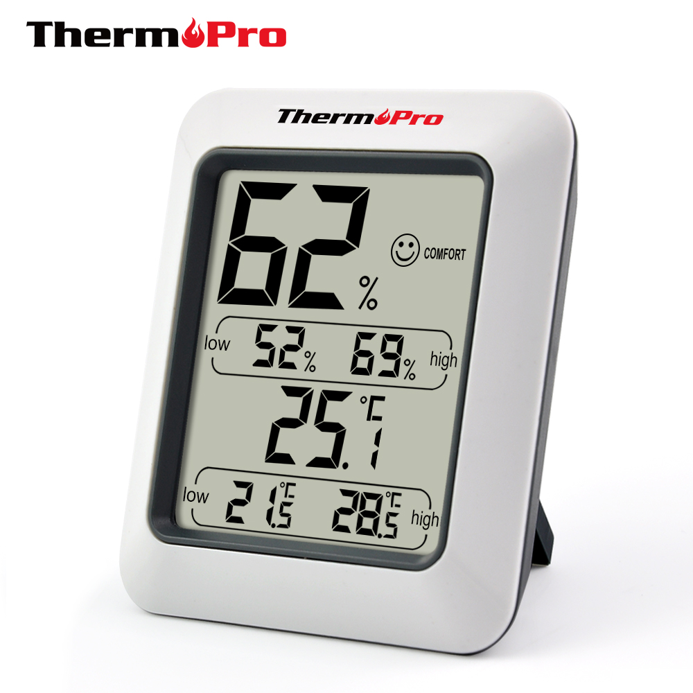 Thermopro TP50 Digital Hygrometer Thermometer Weather Station Greenhouse <strong>Temperature</strong> and Humidity Sensor