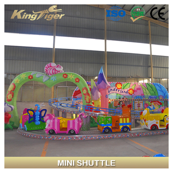Amusement park rides roller coaster mini shuttle for kids
