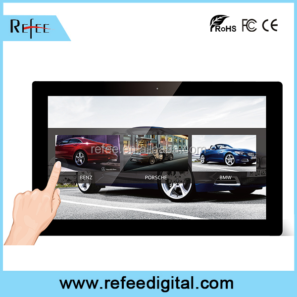 Restaurant/coffee bars/ shopping malls advertising equipments, wall mounting/table stand LCD ad display