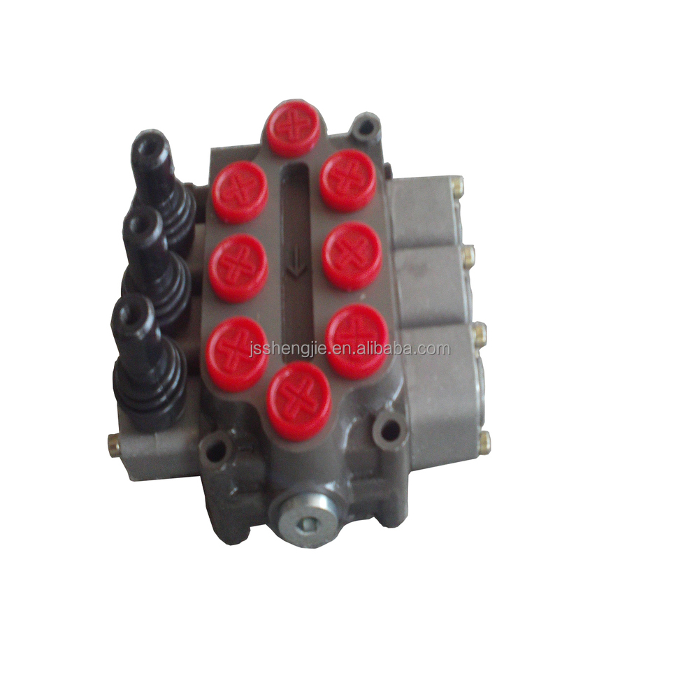 3 spools manual monoblock hydraulic directional control valves 40LPM--ZD-L102