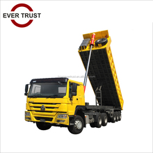 low price high quality tri-axle 60 ton hydraulic tractor tipping trailer for sale