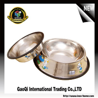 dog bowl stainless steel pet bowl with decorative picture