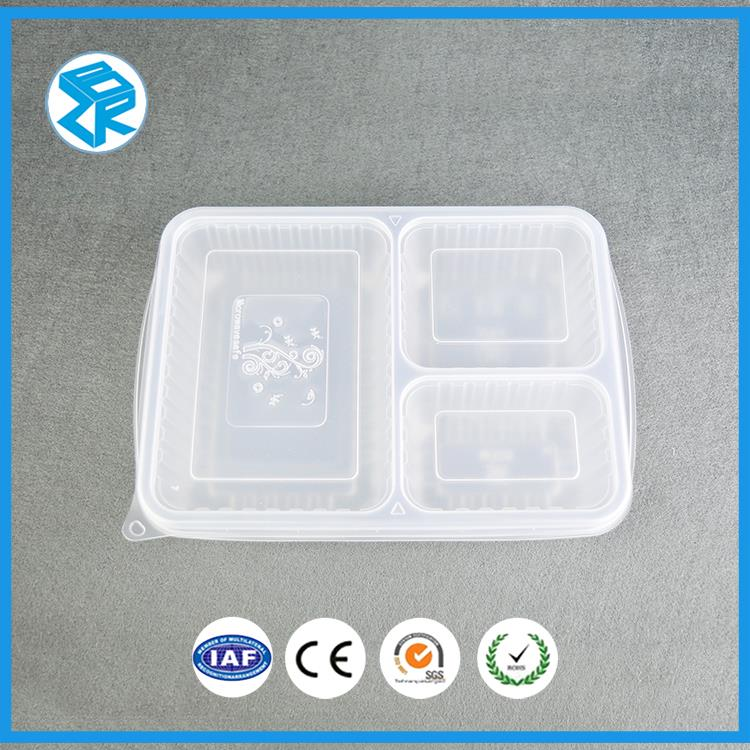 High Quality Cheap Plastic Serving Mess Tin Styrofoam Bento Food Tray Pp Blister Divideds Lunch Box