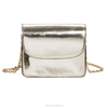 Wholesale fashion shoulder metallic leather bags for women