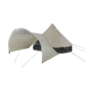Stronger poles Canvas 5m Bell Tent Adaptable Awning for camping