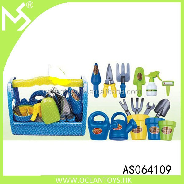New Little Garden Tool Box 16pc Toy Gardening Tools Set for Kids