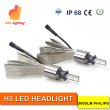 latest super bright 7200lm H4 led 2016 headlight hilux with IP68 CE RoHS