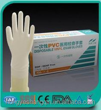 disposable powder free vinyl gloves/medical disposable/working glove