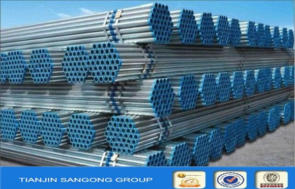Galvanized ERW Welded Round Section Shape Steel Pipe for Structure Fabrication