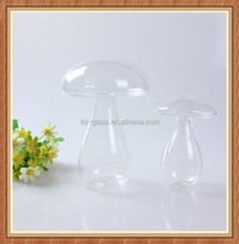 China wholesale handblown small decoration artificial hinging glass mushrooms