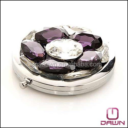 luxuriant gift jeweled flower folding mirror CD-MQ032
