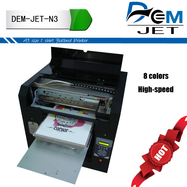 Small format A3 size colorfast highest resolution printer dgi/fabric printer