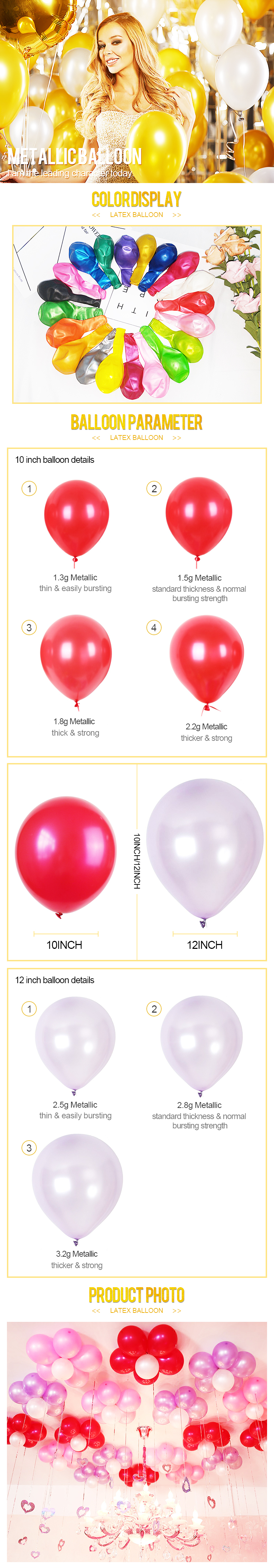 New arrival premium quality custom latex pearl balloon for decoration