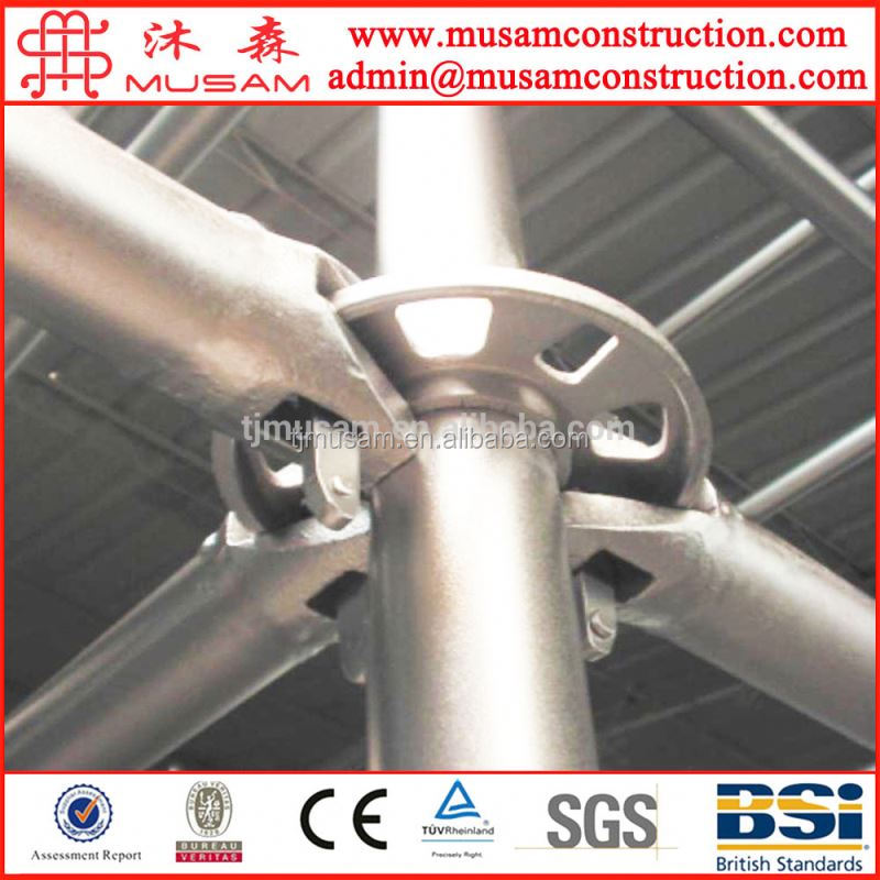 Rosette modular ring-lock system for building construction scaffoldings