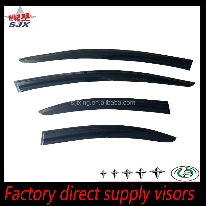 window visor for peugeot 206 2006 4pieces injection rain deflector