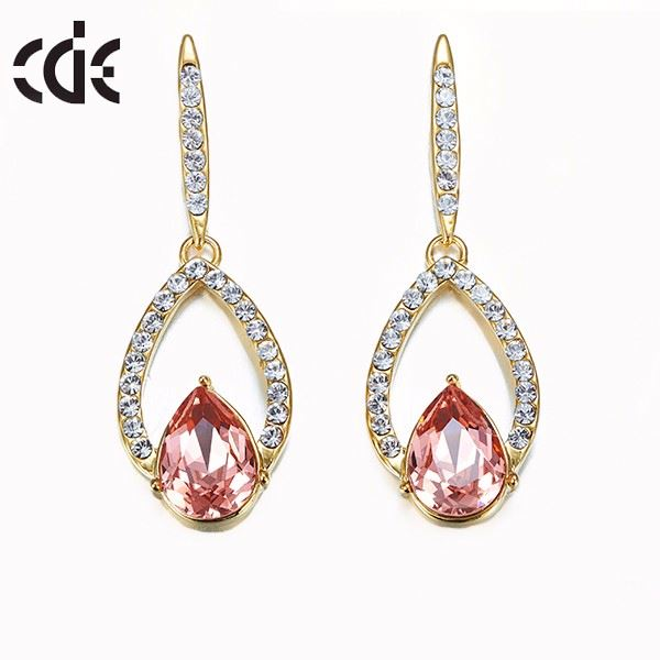 Jewellery making supplies light weight gold earring christmas gift wholesale stone jewelry