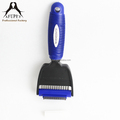 plastic 2in1 dog grooming brush tools dog brush with TPR handle