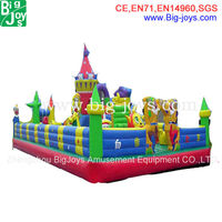 snow white castal large inflatable city with high quality for sale