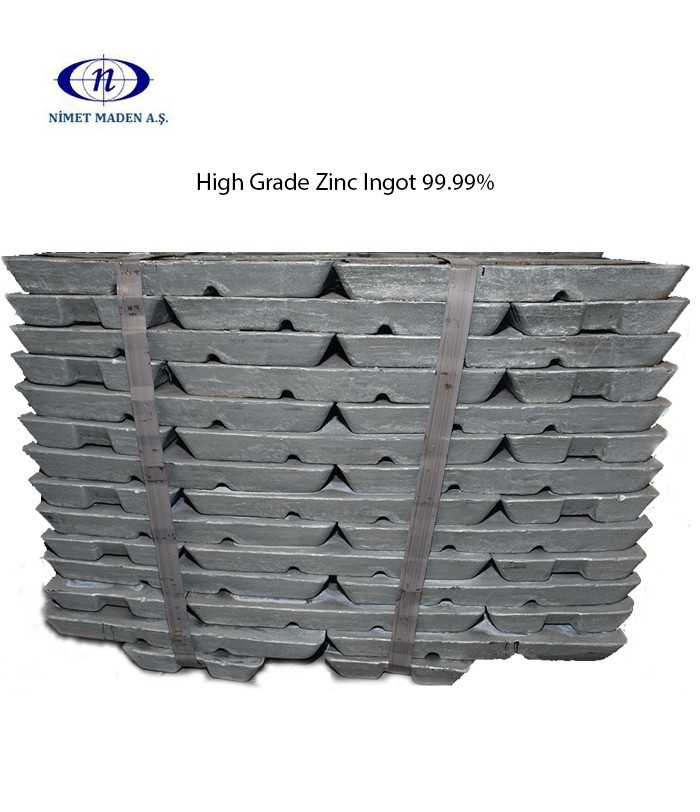 High Grade Zinc Ingot 99.99%