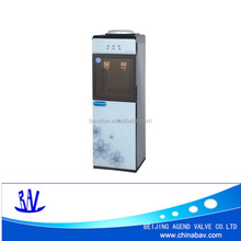 Hot and cold water dispenser with compressor or electronic cooling